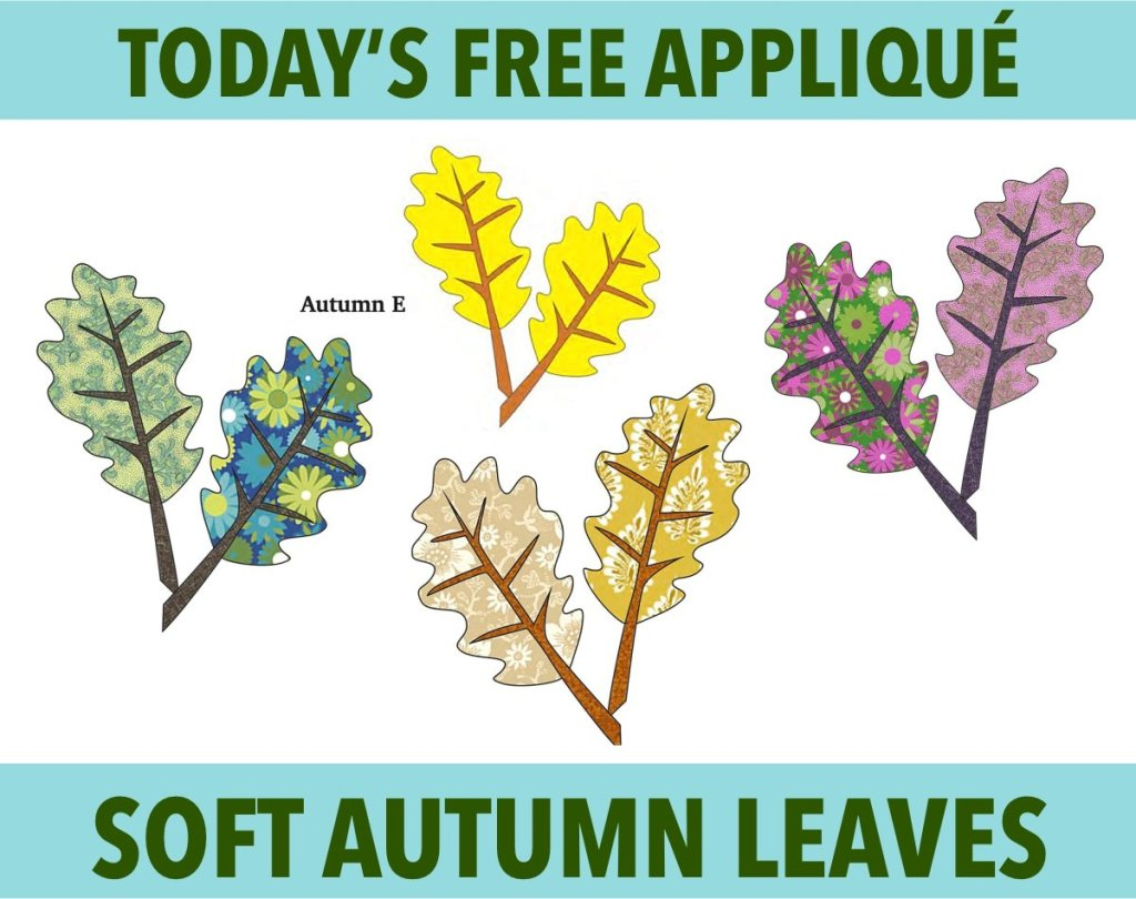 Free Autumn Appliqué Pattern - Soft Fall Leaves