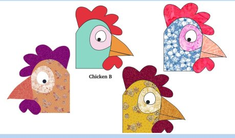 Funny Skeptical Chicken Free Appliqué Pattern