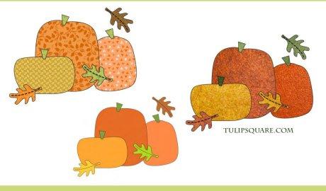 Free Autumn Pumpkin Appliqué Pattern