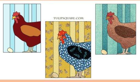 Country Hen Free Appliqué Pattern