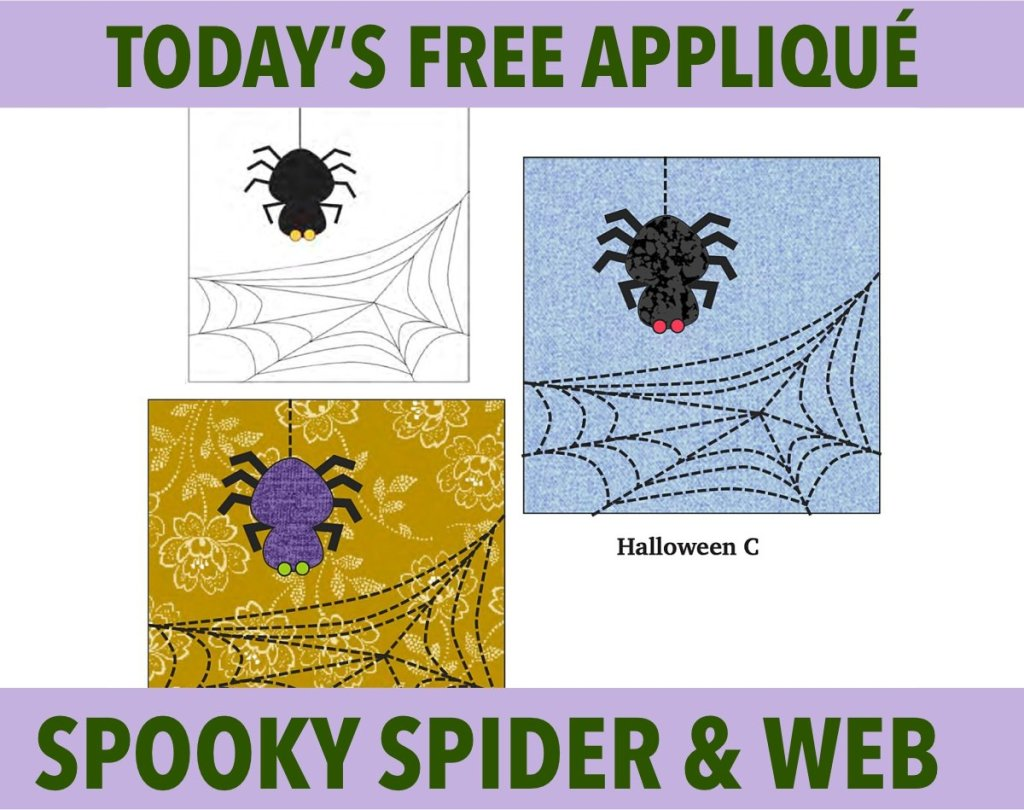 spooky spider web free halloween applique