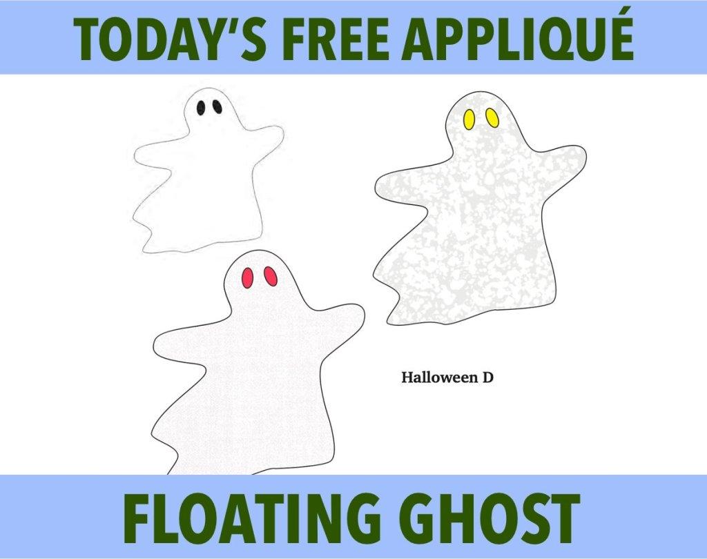 Halloween Appliqué Floating Ghost Free Pattern