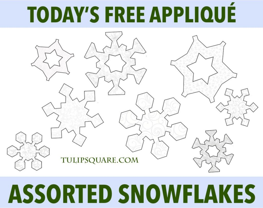 Winter Snowflakes Free Appliqué Pattern