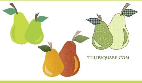 Free Fruit Appliqué Pattern - a Pair of Pears