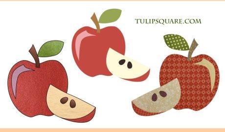 Free Fruit Appliqué Pattern - Delicious Apple