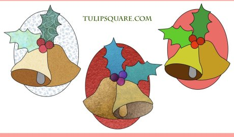 Free Christmas Appliqué Pattern - Bells and Holly