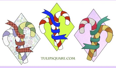Free Christmas Appliqué Pattern - Candy Canes