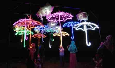 Festival Lampu di Makassar