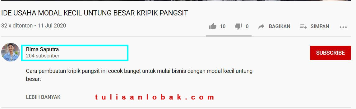 cara menyembunyikan subcribe youtube
