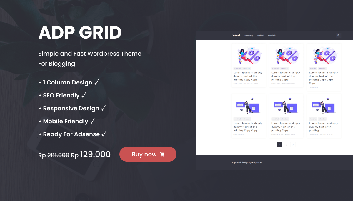 adp grid theme wordpress