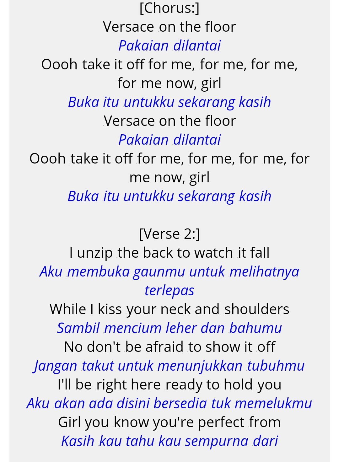 Lirik Lagu Versace On The Floor : lirik, versace, floor, Lirik, Versace, Floor, Milik, Bruno, Hanya, Tulisan, Numpang, Lewat, Entah, Penting, Tidak