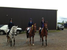 With my club mates who finished 4th & 2nd in the class
