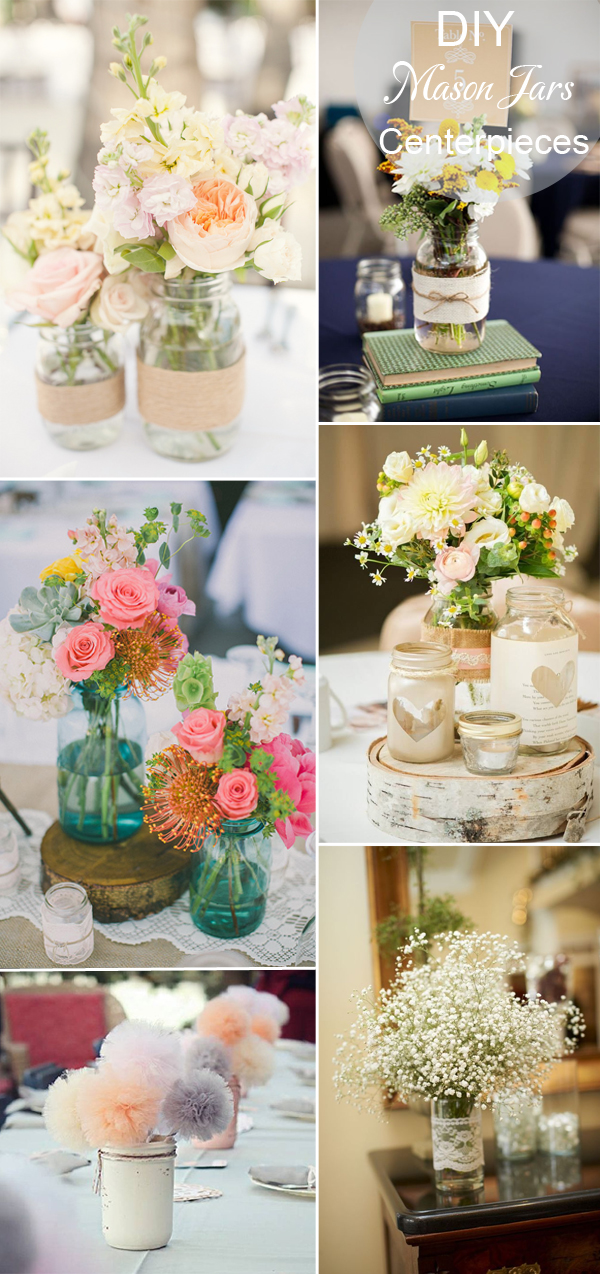 Homemade Wedding Table Decorations