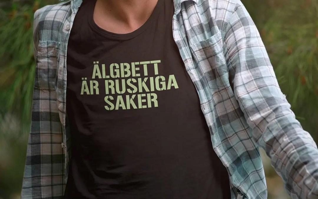 Älgbett är ruskiga saker - Premium T-shirt herr 2