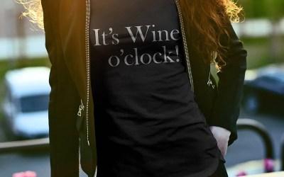 It's wine o'clock – Klockan slår alltid för ett glas vin…