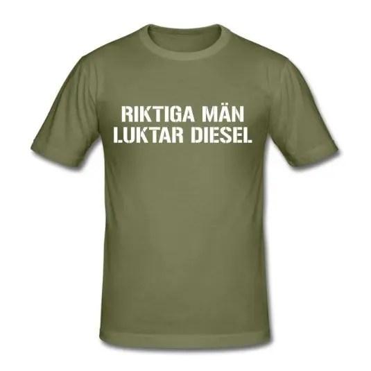 Riktiga män luktar diesel - Slim Fit T-shirt herr