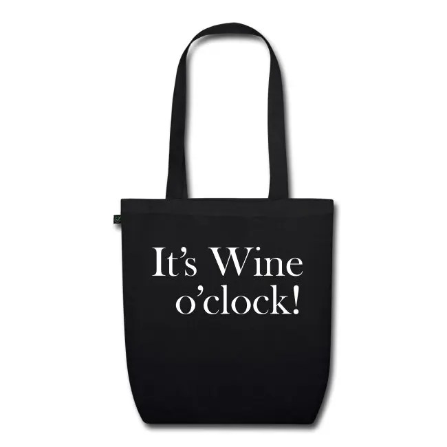 It's Wine o'clock - Ekologisk tygväska