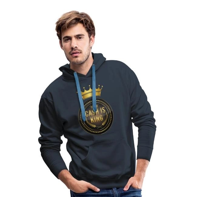 Cash is king - visa att du bojkottar kontantfria butiker och restauranger - Premium Luvtröja hoodie herr