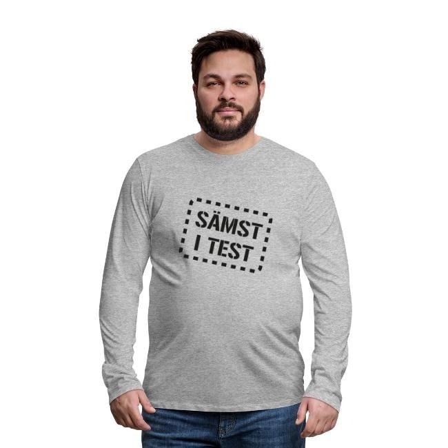 Sämst i test - Långärmad premium T-shirt herr
