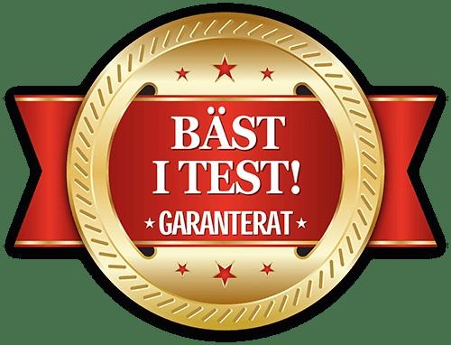 Motiv: Bäst i test - Garanterat