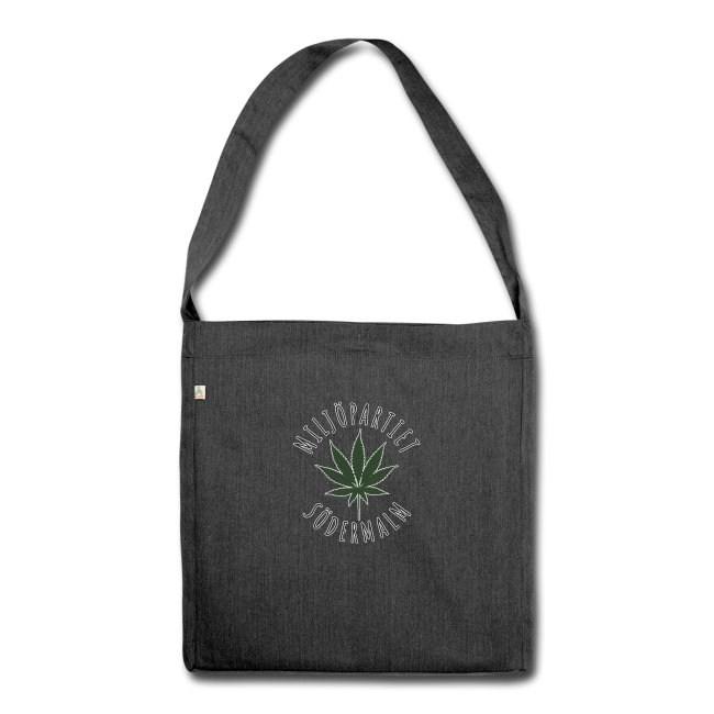 Miljöpartiet Södermalm Cannabis - Axelväska av återvinningsmaterial
