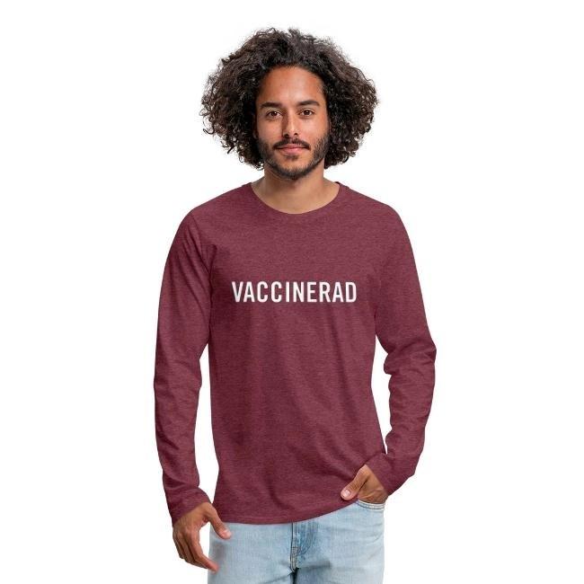 Vaccinerad - Långärmad Premium T-shirt herr