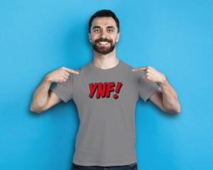 YNF! James Fjongs klassiska uttryck! - Premium T-shirt herr