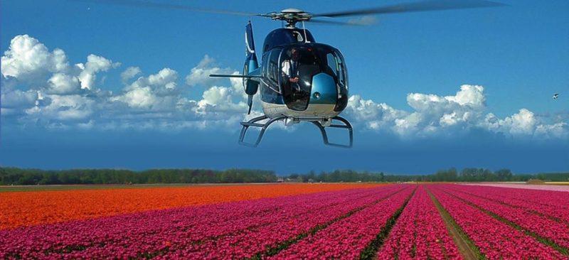 Hubschrauber Blumenflüge