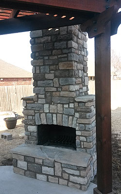 outdoor kitchen bbq wall cabinet kodiak custom masonry, tulsa brick works   ...