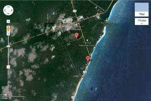 zama village and aldea zama location near the beach