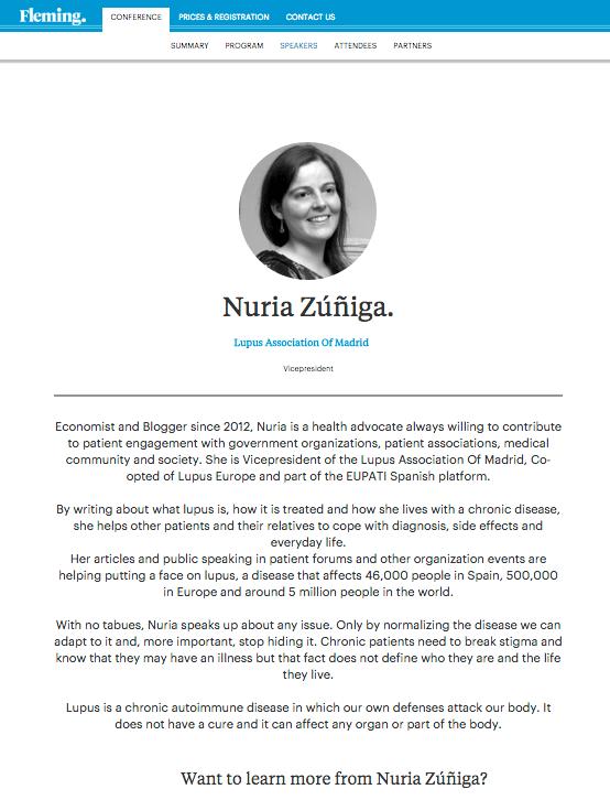 Bio Nuria Zuñiga evento adherencia