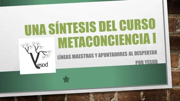 Una síntesis del curso metaconciencia i