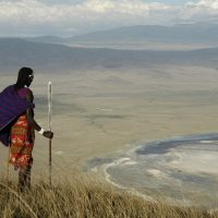 MAILMASTER __Subject: Travel section, Fare Deals, Ngorongoro Crater, Tanzania [with Masai man] - by Kathryn Folliott for Adam Gutteridge On 2014-01-13, at 10:42 AM, Kathryn Folliott wrote: Goway's 14-day East Africa trip, now on sale, includes Ngorongoro Crater in Tanzania. Credit: Serena Ngorongoro Hotel  Masai man looking down into Ngorongoro Crater, Tanzania - credit Serena Ngorongoro Hotel.JPG