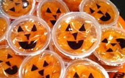 Orange-pumpkin-cups allergy free halloween snack