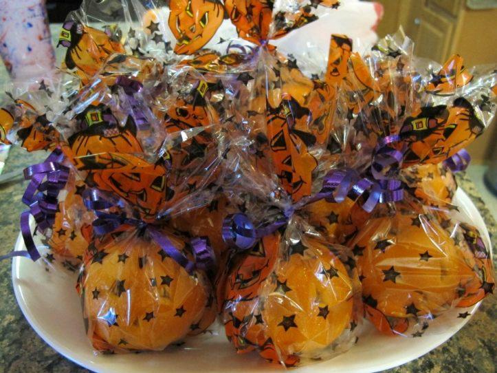 halloween oranges_packaged allergy free hallpween snack
