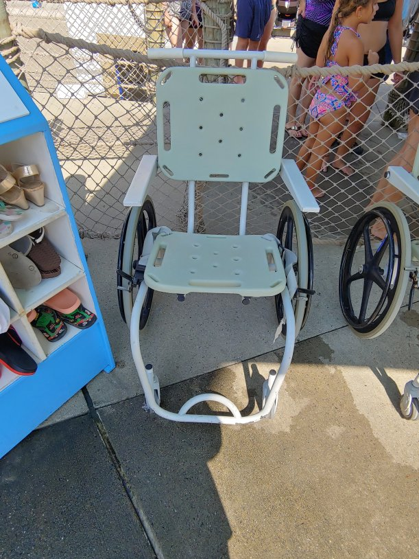 Water-ready wheelchairs were available at attractions throughout the water park