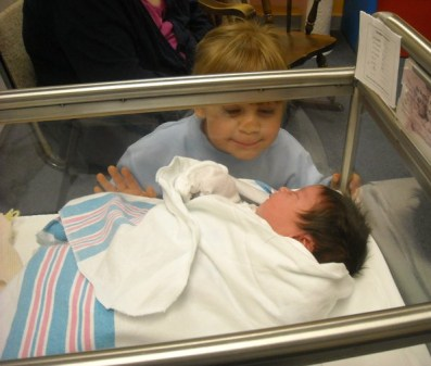 Siblings - when my youngest was born