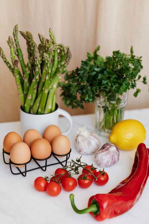Vegetables and eggs can be part of a gluten free diet