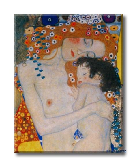 Madre e hijo de Gustav Klim