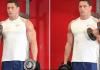 Curl de bíceps alterno con mancuernas