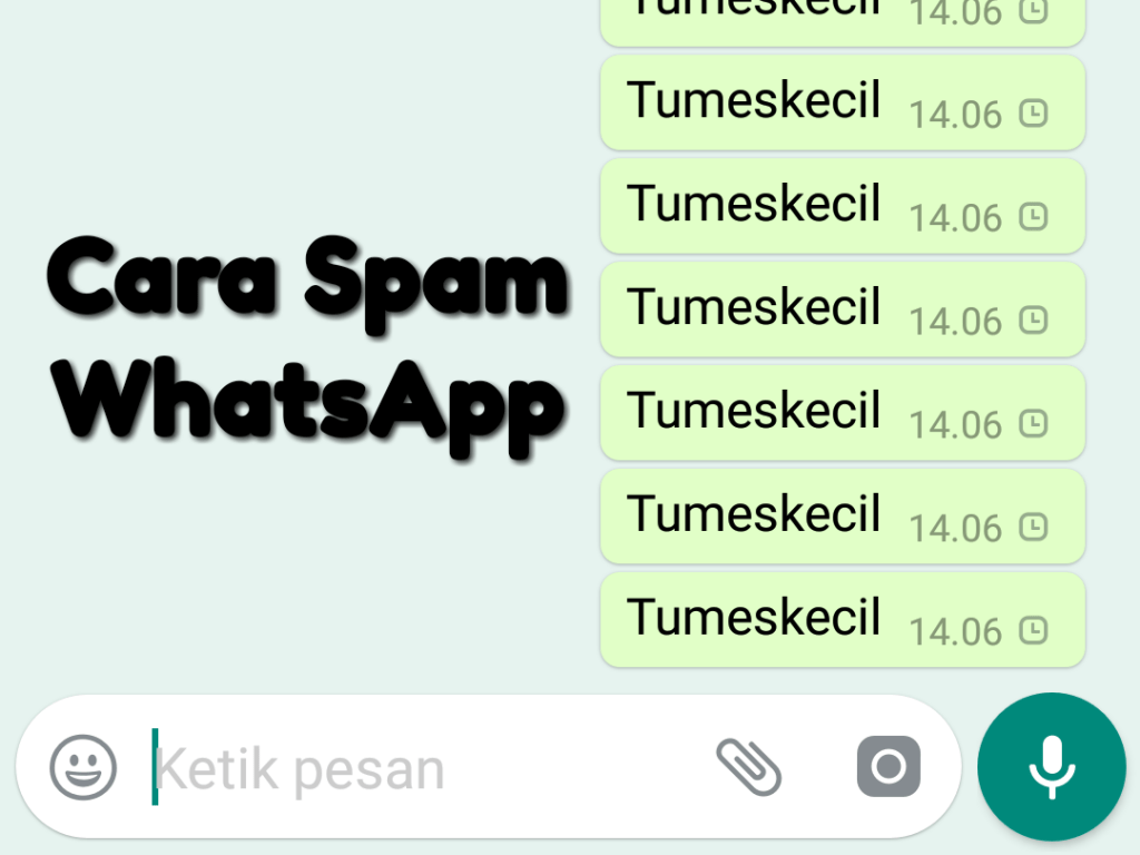 cara spam whatsapp