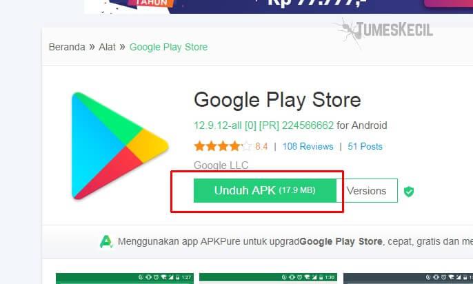 caramengembalikan aplikasi play store yanghilang