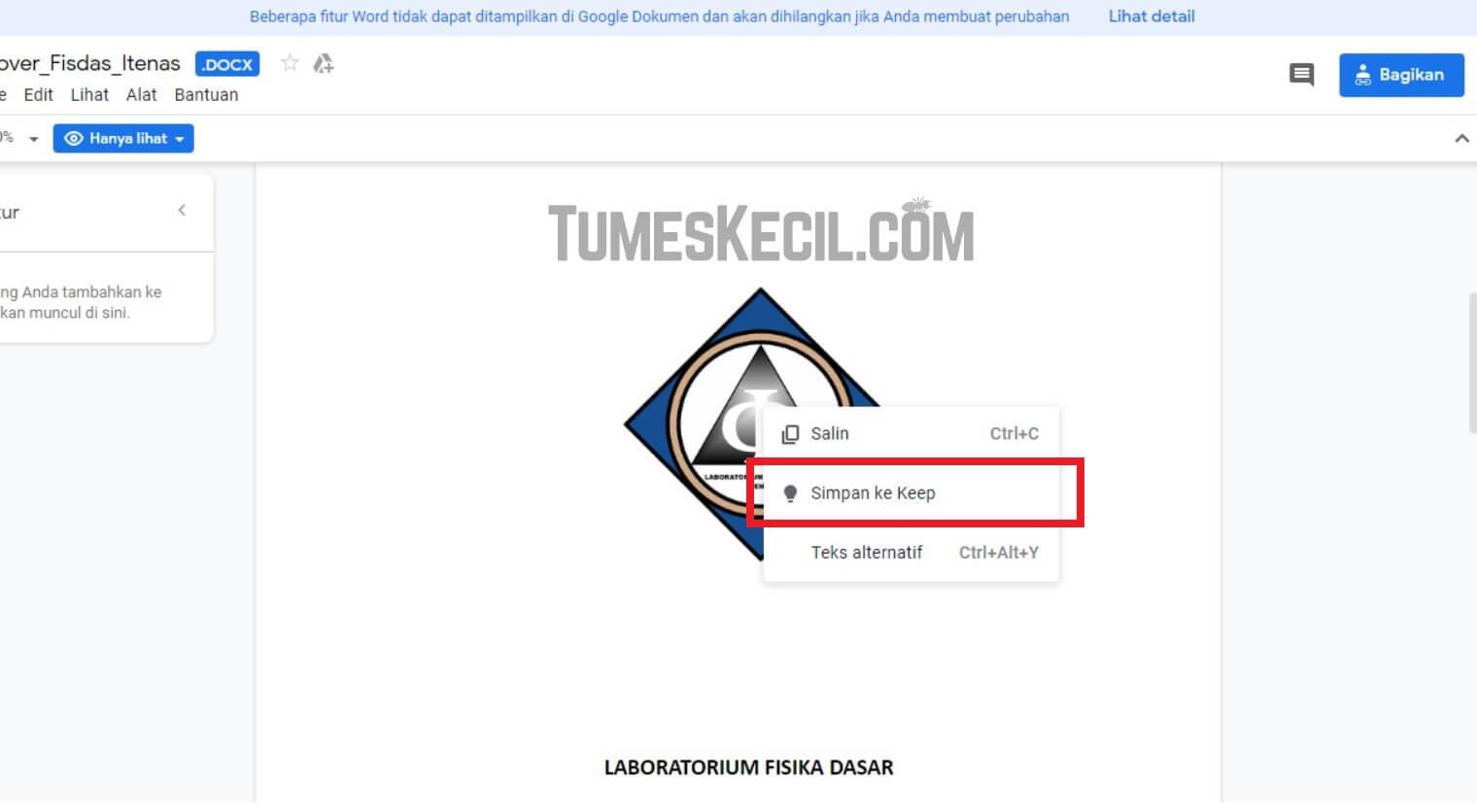 cara download gambar dari google docs