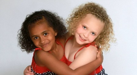 BLACK AND WHITE TWINS BORN TO A BLACK COUPLE TURN 7