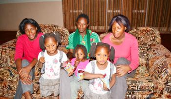 INCREDIBLE !! Tswana Twins 'Share' Livingstone Husband