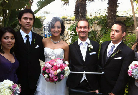 Amazing: Limbless Evangelist Nick Vujicic Marries, Announces 'We Are Expecting'