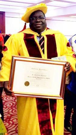 Photo: Chishimba Kambwili Awarded With PHD