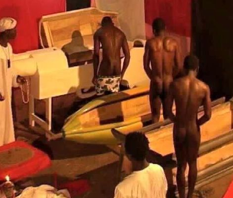 Leaked Photo Of Men Doing Rituals To Become Rich