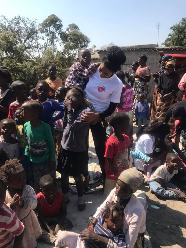 Model Mercy Mukwiza Spends Time With The Disabled & Some Children