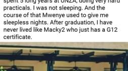 Marky 2 Replies To Fan Who Wrote About Graduating With Degree But Not Living As Comfortably As Him